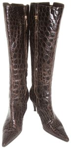 Sergio Rossi Dk Brown Boots