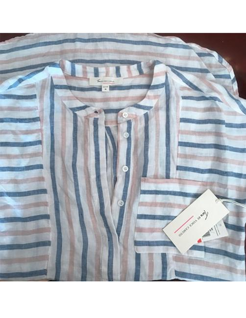 Vince Camuto Striped Linen Tunic Image 3