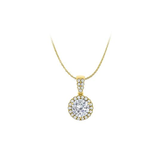 Preload https://img-static.tradesy.com/item/22508637/white-yellow-halo-pendant-with-cubic-zirconia-in-gold-vermeil-necklace-0-0-540-540.jpg