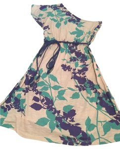5th Culture short dress Cream, Teal, Blue on Tradesy