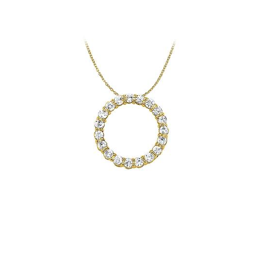 Preload https://img-static.tradesy.com/item/22508760/white-yellow-cubic-zirconia-circle-pendant-gold-vermeil-150-ct-tgw-necklace-0-0-540-540.jpg