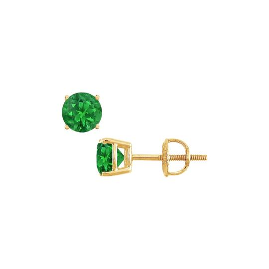 Preload https://img-static.tradesy.com/item/22508934/green-yellow-14k-gold-prong-set-created-emerald-stud-050-ct-tgw-earrings-0-0-540-540.jpg