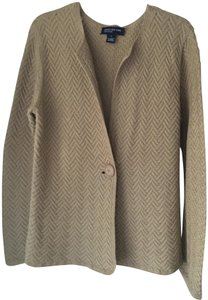 Jones New York Sweater Cardigan Button Down Shirt Nude