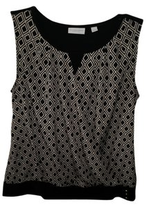 New York & Company Top Black and beige