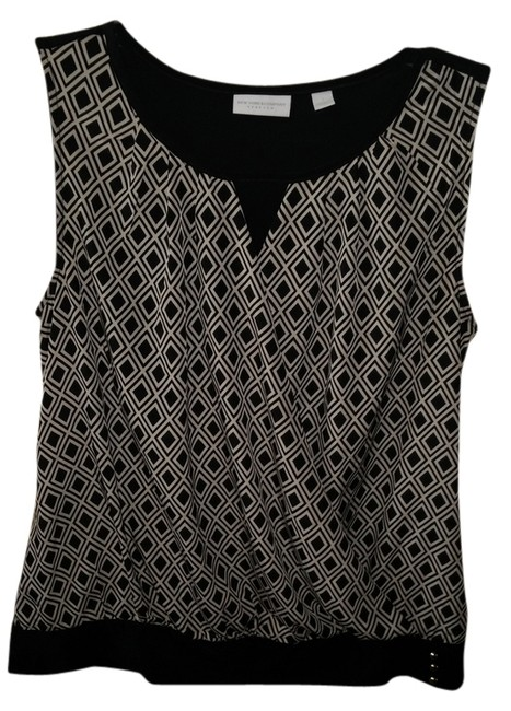 Preload https://item4.tradesy.com/images/new-york-and-company-black-and-beige-blouse-size-4-s-2250918-0-0.jpg?width=400&height=650