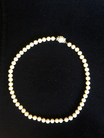 Other Vintage Pearl Necklace with Rhinstone encrusted closure