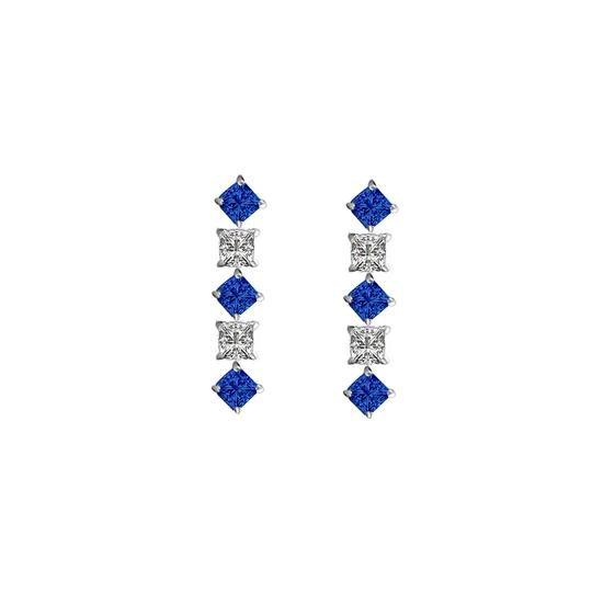 Preload https://img-static.tradesy.com/item/22509213/blue-white-silver-created-sapphire-and-cubic-zirconia-earrings-925-sterling-0-0-540-540.jpg