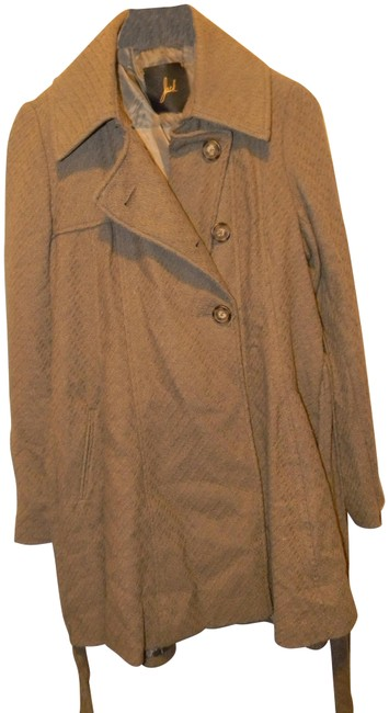 Preload https://img-static.tradesy.com/item/22509352/jack-olive-green-knit-cotton-flared-belted-trench-coat-size-10-m-0-1-650-650.jpg