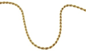 Chopard 18k Yellow Gold 2.5mm Rope Chain Necklace 24