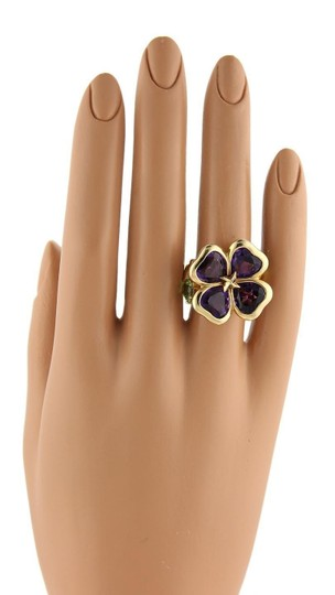 Other Amethyst & Peridot 18k Gold Floral Design Ring- Image 1