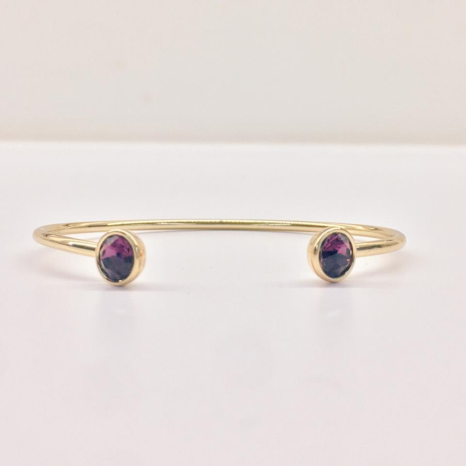 bangle metallic bangles color in no jewelry plated melinda save lyst maria amethyst