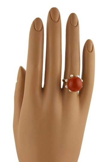 Other Coral & Seed Pearls Cocktail 14k Gold Ring Image 1