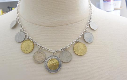 Silver Style Authentic Silver Style 19 Inch .925 Sterling Silver Italian Lire Coin Charm Necklace
