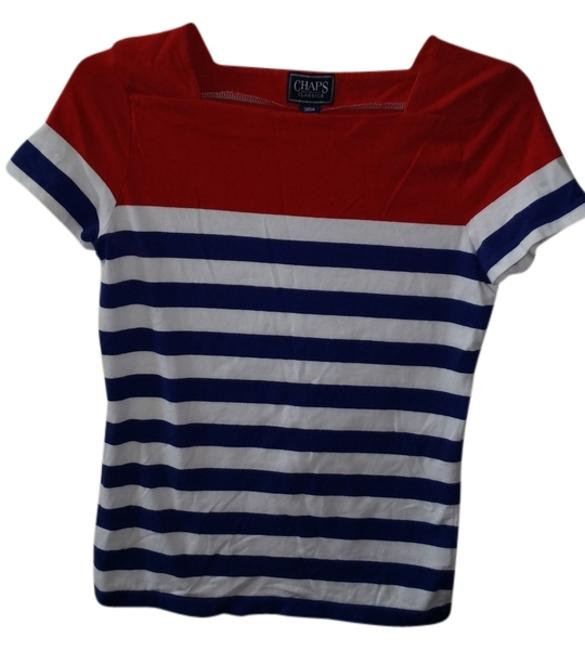 Preload https://item2.tradesy.com/images/chaps-red-white-and-blue-tee-shirt-size-4-s-2250961-0-0.jpg?width=400&height=650