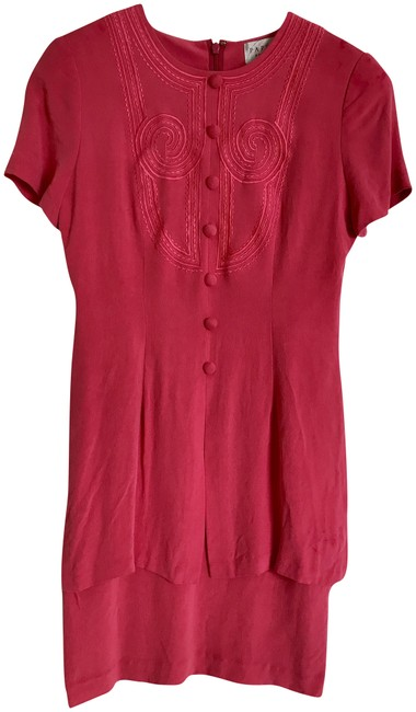 Preload https://img-static.tradesy.com/item/22509639/papell-boutique-watermelon-pink-mid-length-short-casual-dress-size-4-s-0-1-650-650.jpg