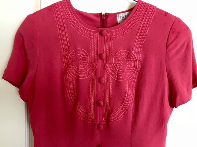 Papell Boutique short dress watermelon pink on Tradesy Image 2