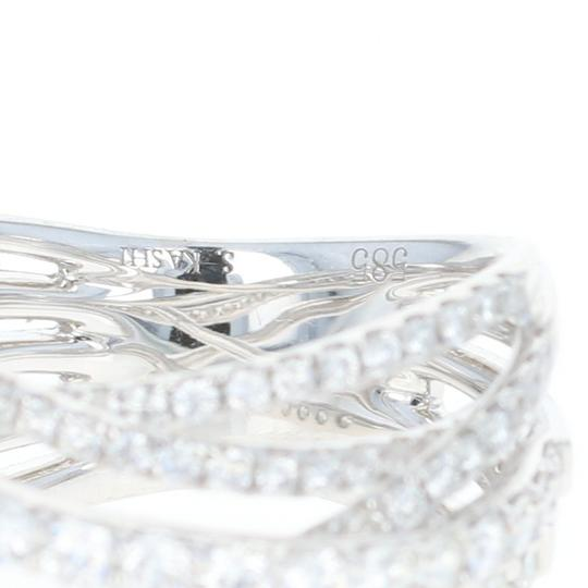 Wilson Brothers NEW Diamond Band - 14k White Gold Crossover Cocktail 1.85ctw Image 2