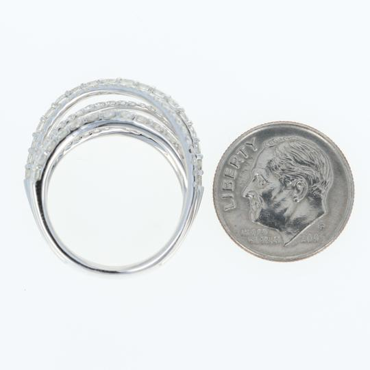 Wilson Brothers NEW Diamond Band - 14k White Gold Crossover Cocktail 1.85ctw Image 3