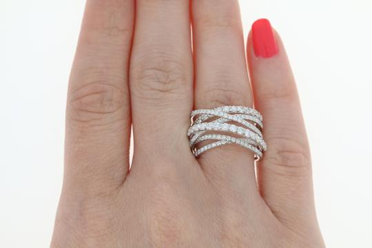 Wilson Brothers NEW Diamond Band - 14k White Gold Crossover Cocktail 1.85ctw Image 4