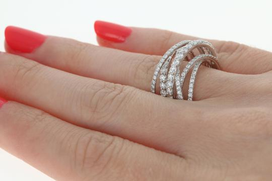 Wilson Brothers NEW Diamond Band - 14k White Gold Crossover Cocktail 1.85ctw Image 5