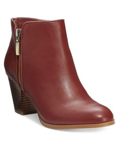 Style & Co. Zip Red Boots
