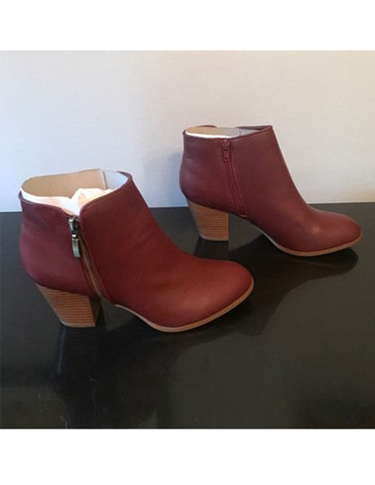 Style & Co. Zip Red Boots Image 1