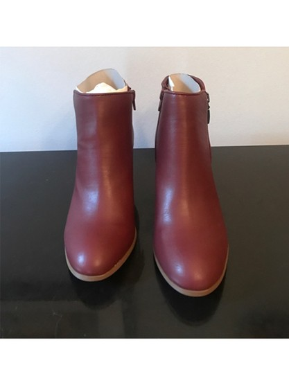 Style & Co. Zip Red Boots Image 2