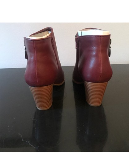 Style & Co. Zip Red Boots Image 3