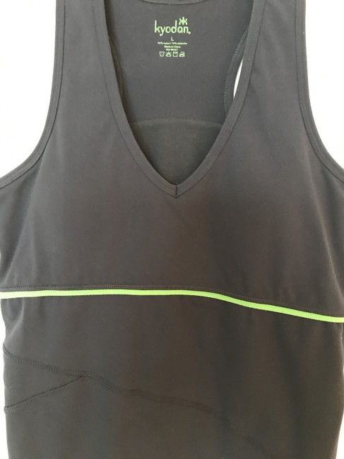 Kyodan Padded Racerback Yoga Activewear Top Navy & Kelly Green Image 2