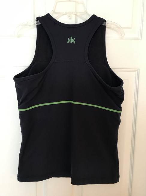 Kyodan Padded Racerback Yoga Activewear Top Navy & Kelly Green Image 3