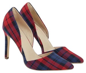 JustFab red plaid Pumps