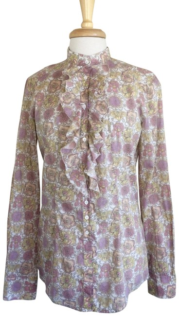 Preload https://img-static.tradesy.com/item/22510364/aglini-pink-yellow-long-sleeve-cotton-blouse-button-down-top-size-6-s-0-3-650-650.jpg