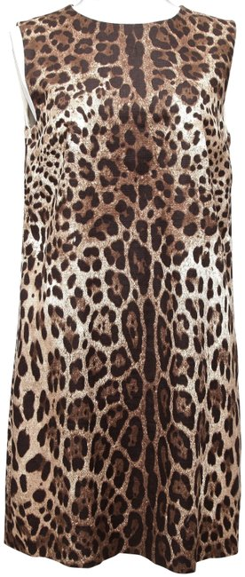 Preload https://img-static.tradesy.com/item/22510429/dolce-and-gabbana-brown-dolce-and-gabbana-leopard-sleeveless-cotton-46-short-casual-dress-size-12-l-0-2-650-650.jpg