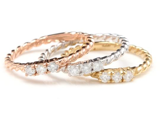 Other 0.45 Carats Diamond Set of Three Stackable Rings in 14K Gold Image 1
