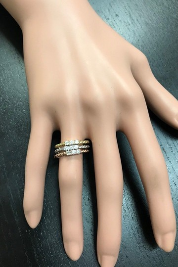 Other 0.45 Carats Diamond Set of Three Stackable Rings in 14K Gold Image 7