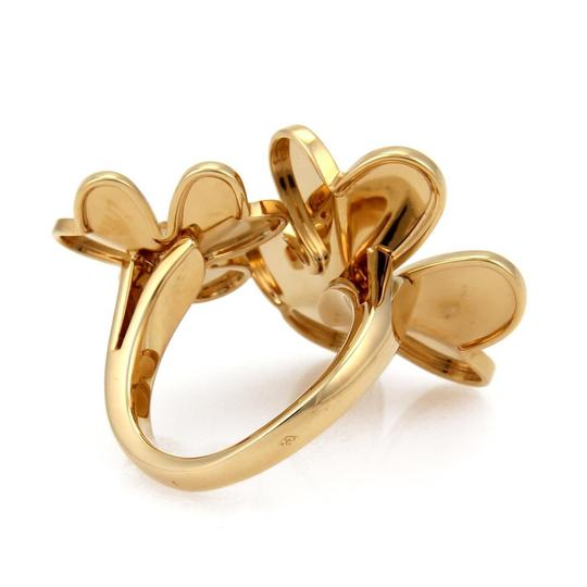 Van Cleef & Arpels FRIVOLE Diamond 18k Yellow Gold Flower Ring Image 4