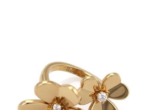 Van Cleef & Arpels FRIVOLE Diamond 18k Yellow Gold Flower Ring Image 5