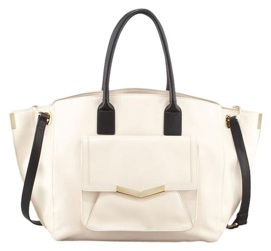 Time's Arrow Tote in Bone/Black
