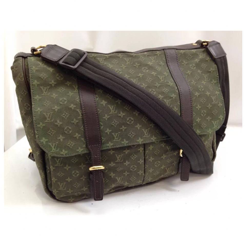 43722a0d5b99 Louis Vuitton Travel Diaper Camoflage Camo Green Olive Monogram Canvas  Laptop Bag