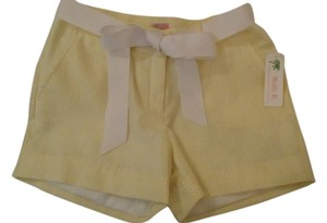 Molly B Seersucker Shorts Yellow