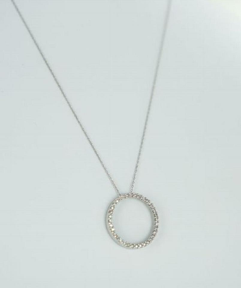 White gold 10kt circle of love diamond pendant 72atw chain white gold 10kt circle of love diamond pendant 72atw chain necklace aloadofball Images