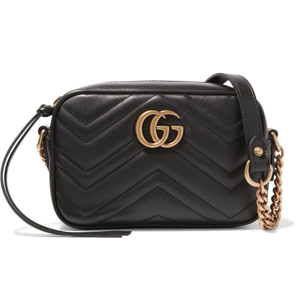 Gucci GG Marmont Mini Quilted Leather Cross-Body Bag in