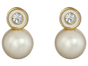 Kate Spade Kate Spade Pearly Delight Stud Earrings, Cream/Gold Tone