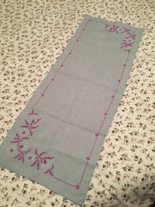 Anthropologie Embroidered Runner Table Linen Tablecloth