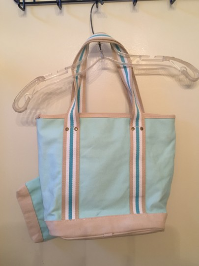 Other Small Tote in Teal and Cream