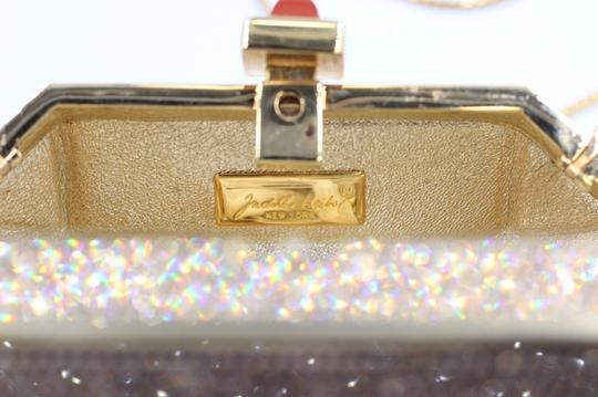 Judith Leiber Crystal Swarovski Embellished Evening gold Clutch Image 5