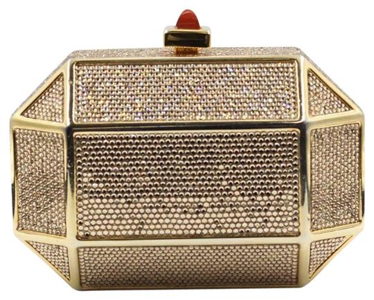 Judith Leiber Crystal Swarovski Embellished Evening gold Clutch Image 0