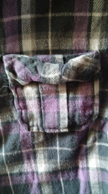 6 Degrees Button Down Shirt Purple and grey