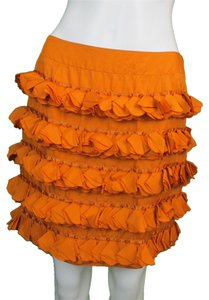 Tara Jarmon Mini Skirt Orange