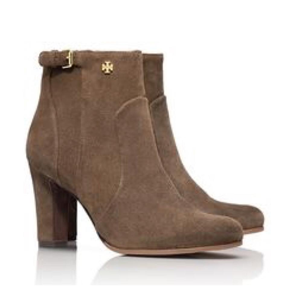 8fd3ec56cbd Tory Burch Brown New Milan Suede Boots Booties Size US 10.5 Regular ...